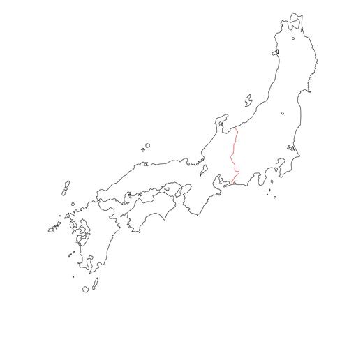日本 地圖 遠江 信濃 越後