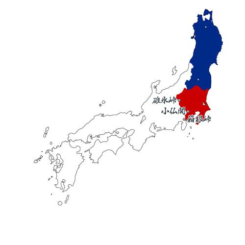 日本 地圖 坂東八國 陸奥 出羽