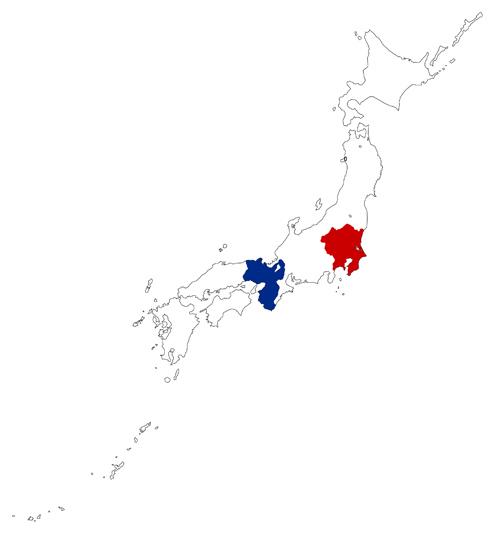 日本 地圖 關西 關東